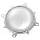 78mm Glass Lens + Aluminum Alloy Holder Set for 20~200W LED Lights - Silver + Transparent