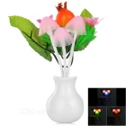 0.2W Pomegranate Style Light Control LED Nightlight Warm White / Multi-Color 22lm (AC220V / US Plug)