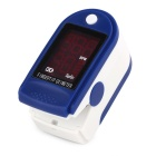 "1.0"" OLED Fingertip Pulse Oximeter Heart Rate Monitor - Blue + White (2 x AAA)"