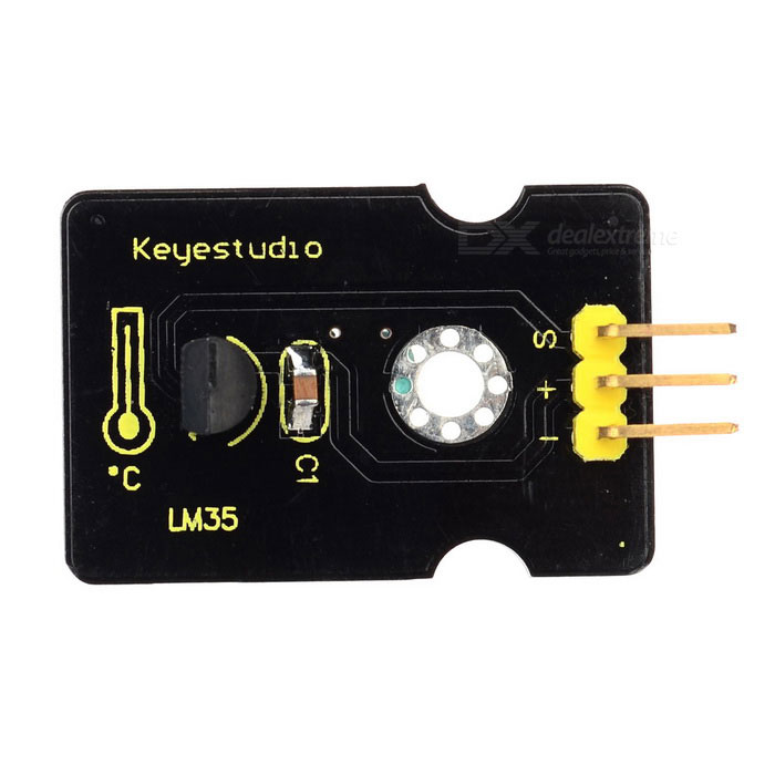 Keyestudio LM35 Linear Temperature Sensor - Black + Yellow