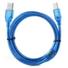 USB2.0 / USB B Type Printer Cable - Translucent Blue (1.48m)