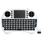 RII RT-MWK08 2.4GHz Wireless 92-Key Russian Keyboard w/ Touch Pad - White + Black