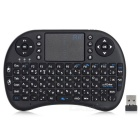 RII RT-MWK08 2.4GHz Wireless 92-Key Russian Keyboard w/ Touch Pad - Black