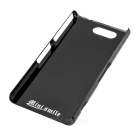 Mini Smile Aluminum Alloy Back Case Cover for Sony Z3 Mini - Black