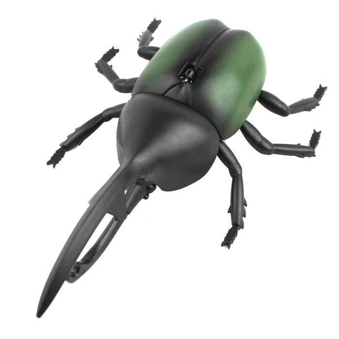 Simulation Infrared Ray Remote Control Beetle Toy - Black + Green