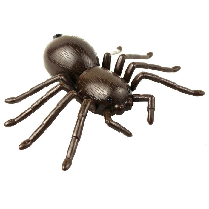 Simulation Electric Infrared Ray Remote Control Spider Toy - Brown