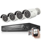 ANNKE 4CH 720P POE NVR w/ 4 x Waterproof HD 720P Onvif Night Vision Cameras (EU Plug, No HDD)