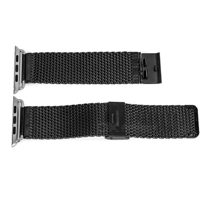 Mini Smile Stainless Steel Watch Band for 42mm APPLE WATCH - BlackWearable Device Accessories<br>Form ColorBlackQuantity1 DX.PCM.Model.AttributeModel.UnitMaterialStainless steelPacking List1 x Watch band<br>