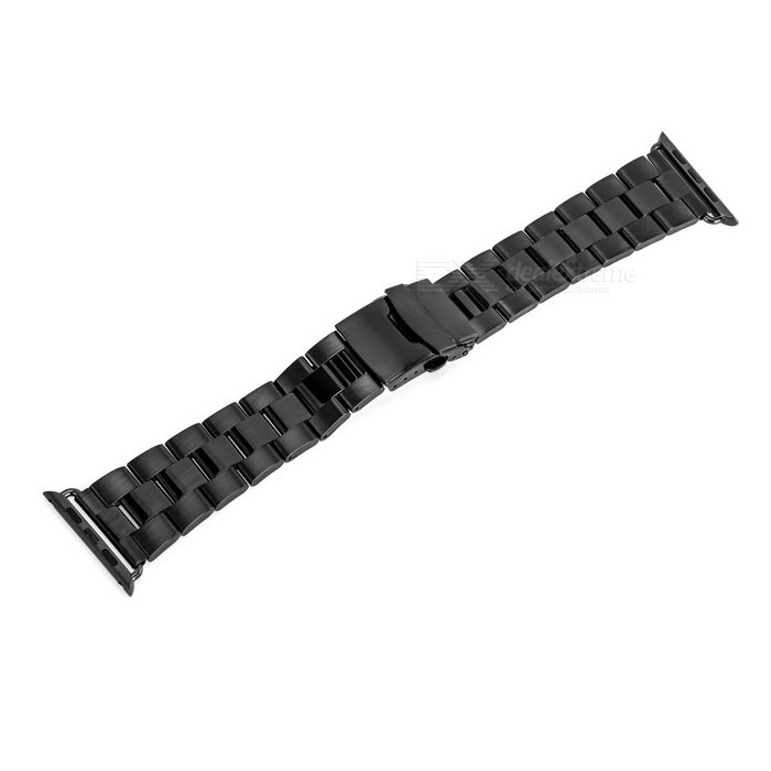 Mini Smile Stainless Steel Watch Band for APPLE WATCH 42mm - Black