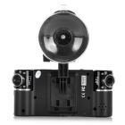 "2.7"" TFT 120' Wide-Angle IR Night Vision Car DVR Dual Cameras - Black"