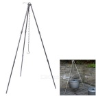 4-Section Portable Outdoor Campfire Bonfire Party Aluminum Alloy Hanging Pot Holder Stand Tripod