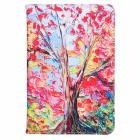 ENKAY Maple Tree Pattern PU Leather + Silicone Case w/ Card Slot for Samsung Galaxy Tab A 8.0 T350
