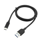 CY USB-C USB 3.1 Type C Male to Type A Male Data Cable - Black (1M)