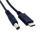 CY U3-234-2.0M USB 3.1 Type C to DC Cable for MACBOOK - Black (2m)