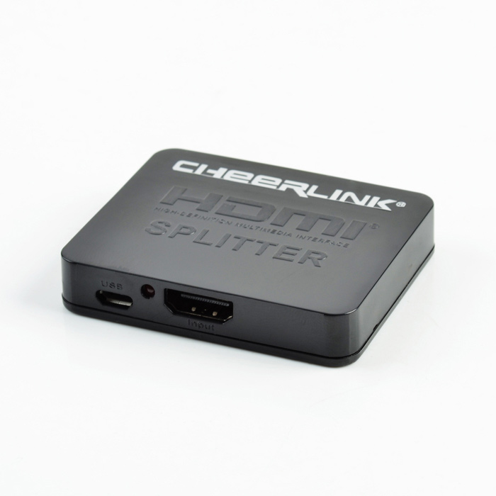 CHEERLINK 1-en 2-out 2160P 3D mini 4Kx2K HDMI V1.4b divisor - negro