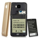"""M9 Dual-core Android 5.0 WCDMA Bar Phone w/ 5.0"""" Screen, Wi-Fi, GPS and ROM 4GB - Golden + Black"""