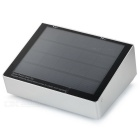 Newly design 3.5w 53-led solar sensor wall lamp white 6000k 350lm - silver grey