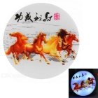 Horses Painted Light Control 4-LED 0.1W White Night Light - Red + Multicolor (US-Stecker / 220V AC)