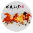 Horses Painted Light Control 0.1W 4-LED White Night Light - Red