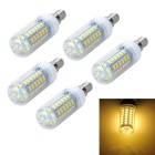 Marsing E14 10W LED Corn Bulb Lamp Warm White Light 1000lm 3000K 56-SMD 5730 (AC 220V / 5PCS)