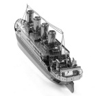 3D Laser Cute Models Metallic Titanic Nano Puzzle Toy - Silver