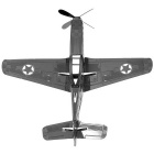 Creative 3D Laser Models P-51 Mustang Nano Puzzle Toy - Silver