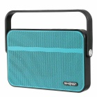 W-king T9 Portable Ultra Slim NFC Wireless Bluetooth Outdoor Speaker w/ FM, TF - Blue + Black