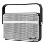 W-king T9 Portable Ultra Slim NFC Wireless Bluetooth Outdoor Speaker w/ FM, TF - Silver + Black