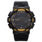 BESTDON BD5517G Men's Fashionable Waterproof Digital Wrist Watch w/ LED - Black + Yellow (1x2025)