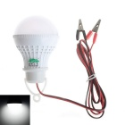 Zweihnder Alligator Clip 5W LED Globe Bulb White Light 400lm 6000K 12-5730 SMD - White (DC 12V)