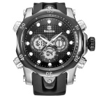 BESTDON BD5515G Men's Analog + Digital Dual Display Quartz Watch w/ LED - Black + Silver (1 x 2025)