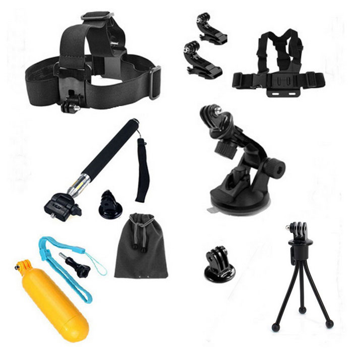 13-in-1 Camera Accessories Kit for GoPro,SJ4000, SJ5000, SJCam, Xiaoyi
