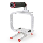 BMCC DSLR Camera Cage Rig Kit for Blackmagic Cinema Camera - Silver + Red