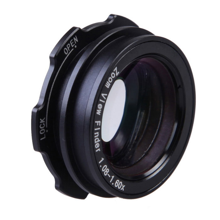 1.08~1.60x Zoom Viewfinder Eyepiece Magnifier for Canon, Nikon, Pentax
