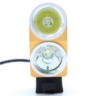 ZHISHUNJIA K2G XM-L T6 LED 4-Mode White Bike Light Headlight - Golden