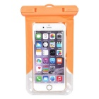"Waterproof PVC Diving Bag Case for 4.7"" Phones - Orange + Transparent"