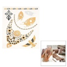Stylish Shiny Flash Water Resistant Temporary Metallic Tattoos Stickers - Golden + Silver