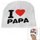 I Love PAPA Knitted Warm Cotton Hat for Toddler/ Baby / Kids - White + Black + More