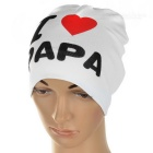 I Love PAPA Knitted Warm Cotton Hat for Toddler/ Baby / Kids - White