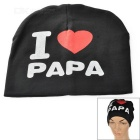 I Love PAPA Knitted Warm Cotton Hat for Toddler/ Baby / Kids - Black + White + More