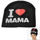I Love MAMA Printed Knitted Warm Cotton Hat for Toddler/ Baby / Kids - Black + White + More