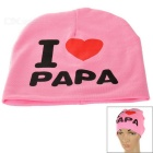 I Love PAPA Knitted Warm Cotton Hat for Toddler/ Baby / Kids - Pink + Black + More