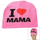 I Love MAMA Knitted Warm Cotton Hat for Toddler/ Baby / Kids - Pink + Black + More