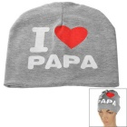 I Love PAPA Printed Knitted Warm Cotton Hat for Toddler/ Baby / Kids - Grey + White + More