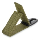 Parrot Mouth Shaped Hook Belt Buckle Carabiner - Army Green