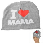 I Love MAMA Printed Knitted Warm Cotton Hat for Toddler/ Baby / Kids - Grey + White + More