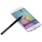 Newest Universal ABS + Silicone Phone Touch Pen w/ Clip - Black