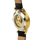 MCE Skeleton Automatic Mechanical Analog Watch - Golden + Black