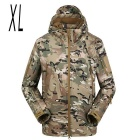 Men's Outdoor Warm Water Resistant Breathable Windproof Jacket Coat - Camouflage (XL)