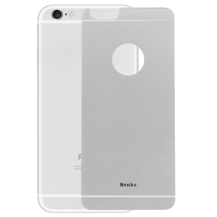 Benks magic okr + protector de pantalla de cristal trasero para IPHONE 6PLUS - plata